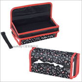 asdfkitty可愛家☆KITTY紅黑色車用餐盤置物架含面紙套-日本正版商品