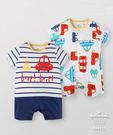 Hallmark Babies純棉滿版玩具車短袖連身衣(兩件裝)HG1-B02-03-BB-PN
