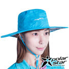 PolarStar 輕量防潑水雙面圓盤帽『天藍』P16518 抗UV帽│登山帽│路跑慢跑帽│遮陽帽│防曬帽