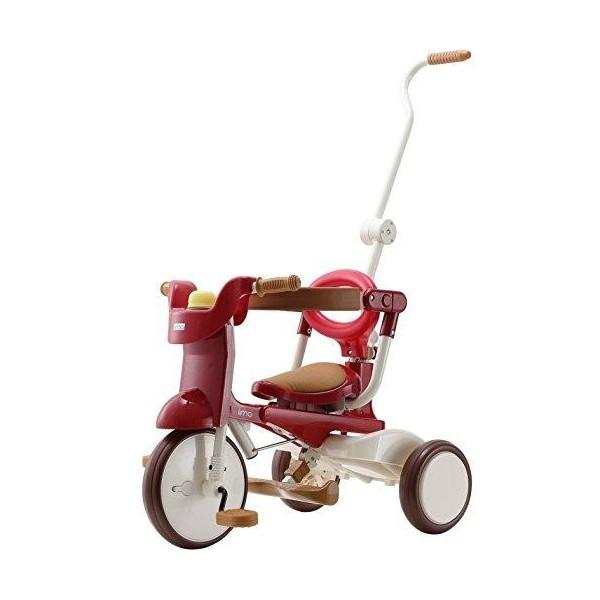 【贈大野狼背包】日本 iimo #02 兒童三輪車-折疊款(3色可選)升級款