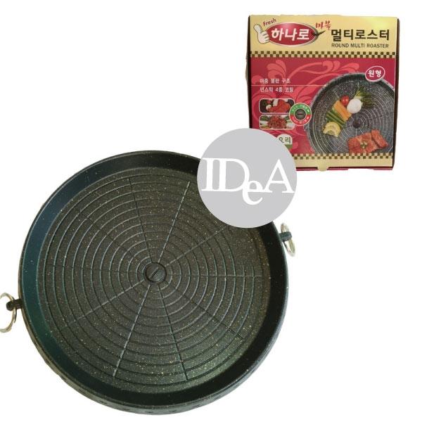 韓國HANARO排油烤盤圓形32cm  燒烤 韓式烤盤 野外 戶外 卡式爐 不沾鍋 圓形 露營