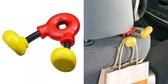 車之嚴選 cars_go 汽車用品【WD-259】日本 NAPOLEX Disney 米奇 腳部造型 頭枕用 包包掛勾 置物架