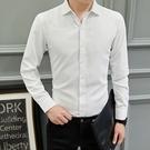 男士素面西裝長袖襯衫中大尺碼商務上衣