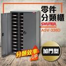 【大容量抽屜零件櫃】樹德 A5V-336D (加門型) 36格抽屜 零件櫃 鐵櫃 收納櫃 整理櫃 工具收納