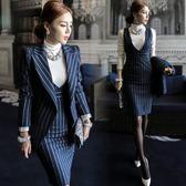 秋裝新款職業女裝兩件套OL氣質時尚套裝性感修身包臀洋裝潮 618好康又一發
