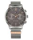 【台南 時代鐘錶 Tommy Hilfiger】1782304 日期星期顯示 雙眼米蘭錶帶女錶 38mm 灰