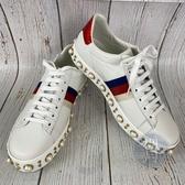 BRAND楓月 GUCCI古馳 ACE SNEAKER 珍珠小白鞋 平底鞋 休閒鞋