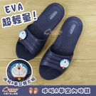【雨眾不同】哆啦A夢 立體大臉 超輕量EVA拖鞋 居家室內浴室拖鞋 藍色