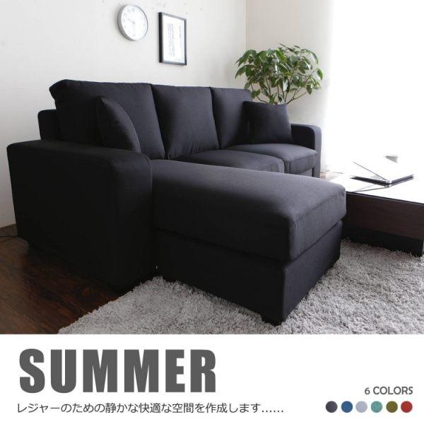 桑妮亮彩舒適L型沙發-6色(DY2/978B三+凳沙發)【obis】