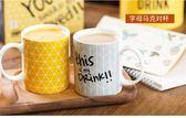 情侶對杯個性簡約水杯陶瓷杯馬克杯咖啡杯情侶對杯牛奶杯早餐杯2只裝·樂享生活館