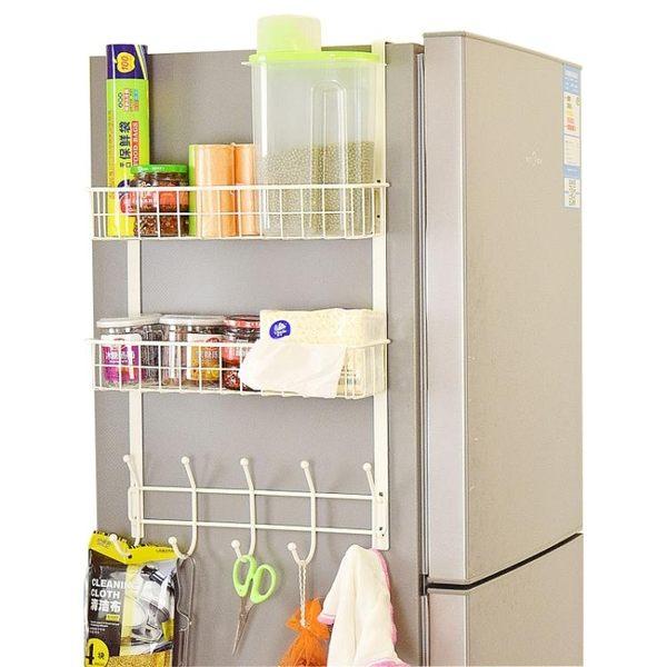 創意冰箱掛架側壁掛架衣櫃側壁掛架廚房收納架磁鐵置物架調料架子igo 晴天時尚館