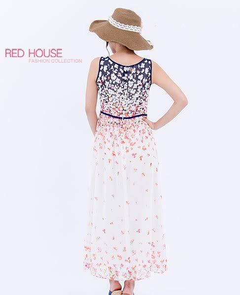 RED HOUSE-蕾赫斯-花朵背心長洋裝