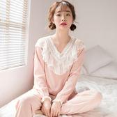 韓版睡衣女春秋季純棉長袖冬季甜美可愛公主風可外穿家居服夏套裝
