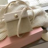 側背包 ins包包女chic韓國復古小方包 簡約百搭側背斜挎小包 美好生活居家館