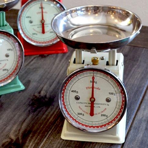 復古磅秤 500g Dulton Diet Scale 象牙色 日本帶回