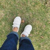 兒童白色魔術貼運動鞋男童小白鞋3百搭白色板鞋5大童休閒鞋子6歲【萬聖節鉅惠】