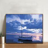diy數字油畫 客廳臥室風景大幅自己填色手繪裝飾畫40*50陽光海岸 - 歐美韓