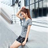短袖運動上衣女健身房健身服短褲速干衣跑步