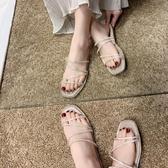 促銷全場九折 拖鞋女ins潮夏新款水鉆平底時尚外穿一字拖少女百搭網紅涼拖