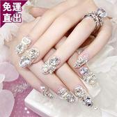 彩繪美甲貼紙指甲指甲貼紙防水持久美甲貼紙全貼韓國3d可穿戴飾品美甲成品