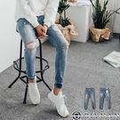 韓製彈性束口牛仔褲【BPA102】OBI...