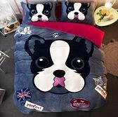 卡通珊瑚絨四件套加厚保暖法蘭絨床單被套法萊絨床上用品床笠