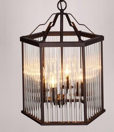 設計師美術精品館美式別墅樓梯吊燈創意複古房間吊燈水晶燈具燈飾做舊鐵藝餐廳吊燈