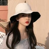 漁夫帽女夏季日系遮臉百搭防曬紫外線遮陽帽子女韓版潮網紅太陽帽
