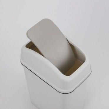 日式搖蓋垃圾桶15L
