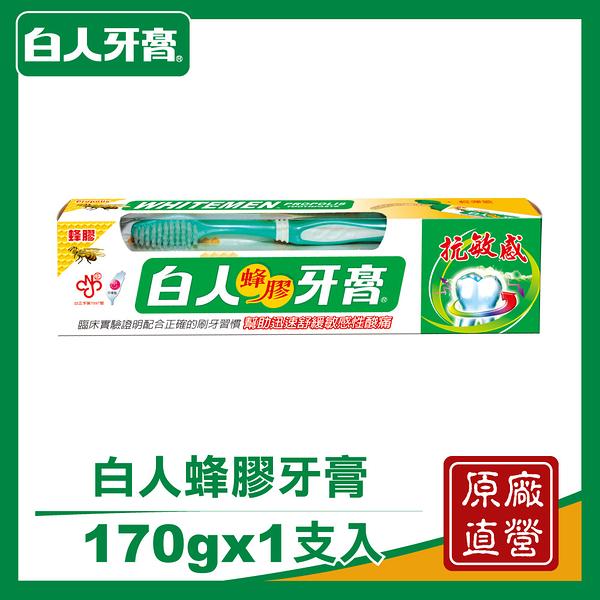 【白人】蜂膠牙膏牙刷組170g/支