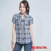 BOBSON 格子長版襯衫-(23136-88)