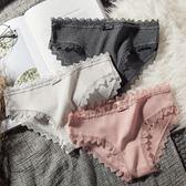 內褲 4條裝內褲女純棉蕾絲低腰火辣性感學生少女棉質面料中腰三角褲頭 韓先生