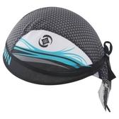 自行車頭巾 抗紫外線-創意藍海波浪設計男女單車運動頭巾73fo44【時尚巴黎】