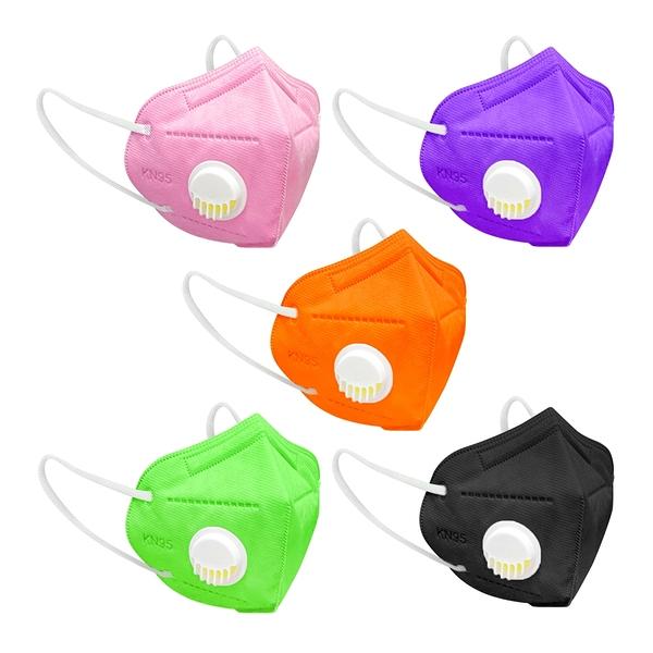 【3期零利率】全新 RM-V101 一次性防護彩色氣閥立體口罩 10入 3層過濾 熔噴布 (非醫療)含稅公司貨