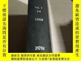 二手書博民逛書店APPLIED罕見OPTICS Vol.7.1-4.1968(應