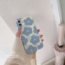 手機殼 保護套 藍色花朵適用iphone13promax蘋果12手機殼11新款xr女x液態xs硅膠8