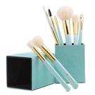 【日本代購】 Amoore 8支化妝筆化妝刷套裝化妝刷子帶收納盒 - 淺綠