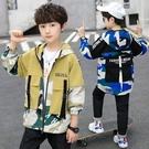 時尚男童外套 簡約潮流男童外套 字母印花潮流外套 男童外套韓版外套 秋季中大童百搭夾克外套