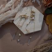 耳環 RCha。宮廷風雕花珍珠不對稱耳環-Ruby s 露比午茶