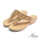 專櫃女鞋 造型水鑽夾腳拖鞋-艾莉莎Ali...