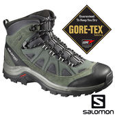 【SALOMON 法國】男 AUTHENTIC LTR GTX 防水中筒登山鞋『瀝灰/霧綠/鋁白』390409 GORE-TEX