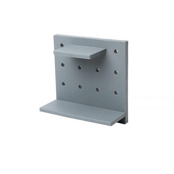 洞洞板壁掛式置物架 免打孔DIY牆面收納架 免釘免鑽塑膠牆上牆壁組合板【SA560】《約翰家庭百貨