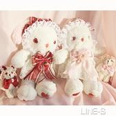 草莓醬兔熊包包垂耳jk斜跨兔包