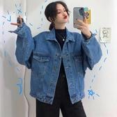 新款春季女裝百搭寬鬆學生夾克韓版港風復古很仙的牛仔短外套