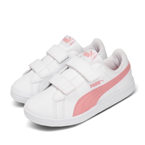 Puma 休閒鞋 Up V PS 白 粉紅 童鞋 中童鞋 魔鬼氈 基本款 運動鞋 【PUMP306】 37360203