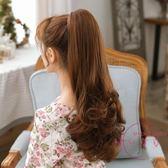 (低價促銷)假髮馬尾 假髮女士長髮髮梨花假髮尾 大波浪逼真中長髮款假髮尾