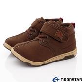 日本Moonstar月星機能童鞋HI系列寬楦護踝穩定靴鞋款22083深棕(中小童段)