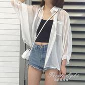 防曬罩衫韓版女裝寬鬆百搭雪紡衫防曬衣上衣女外搭外套女蝙蝠袖開衫 果果輕時尚