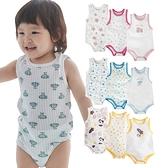Augelute Baby童衣 坑條輕薄夏日涼爽包屁衣包屁衣三件組 無袖涼感透氣兔裝 90055