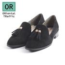 【ORiental TRaffic】經典俏皮流蘇樂福鞋-經典黑
